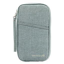Multi-function Travel Passport Holder Credit Id Card Stash Organizer Case Bag K