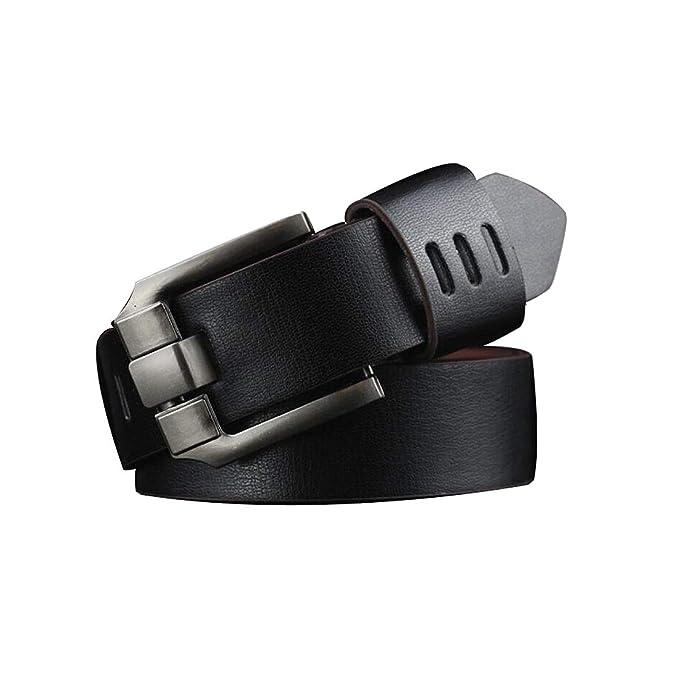 Men/'s Genuine Leather Dress Belt Casual Pin Buckle Waist Strap Waistband Belts