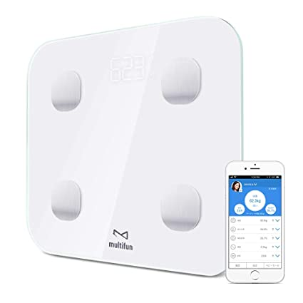 Multifun - Báscula de cuerpo con Bluetooth y aplicación para dispositivos iOS Android, monitor de