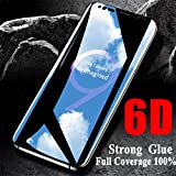 Comoro One Plus 6T Screen Protector, Anti Blue Light [Eye Protect] 9H Hardness 3D Touch Compatible Shockproof Anti-Scratch, Tempered Glass for Oneplus 6t (6D Glass)
