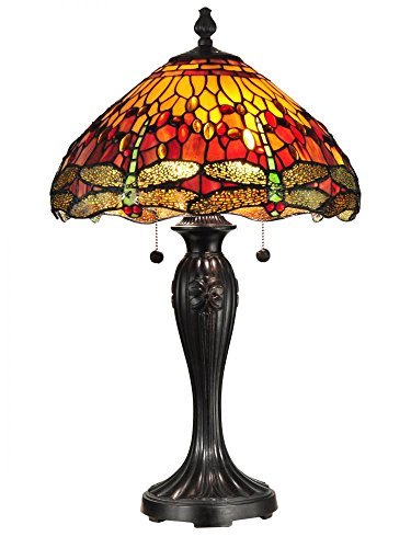 Dale Tiffany TT12269 Reves Dragonfly Table Lamp, 16