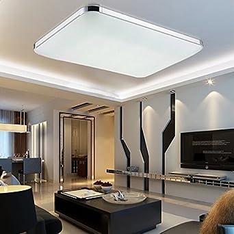 MCTECH 48W Kaltweiss LED Deckenleuchte Modern Deckenlampe Flur Wohnzimmer Lampe Schlafzimmer AC 85V 265V