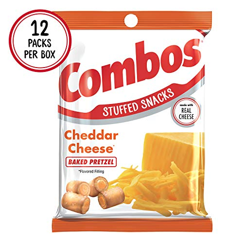 COMBOS Cheddar Cheese Pretzel Baked Snacks 6.3-Ounce Bag (Pack of 12) ()