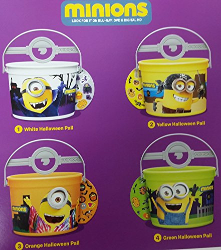 Mcdonalds 2015 Halloween Minions Pails Buckets - Set of 4 -