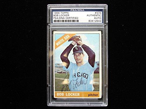 1966 Topps #374 Bob Locker Chicago White Sox Autographed Baseball Card - (Chicago White Sox Collectible Locker)