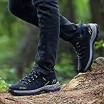 Chaussures de Randonnée Outdoor pour Hommes Femmes Basses Trekking et Les Promenades Sneakers Verte Bleu Noir 36-47 8