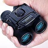 USCAMEL Folding Pocket Binoculars Compact Travel Mini Telescope HD Bak4 Optics Lenes Easy Focus 8x21 Colour Black (Electronics)