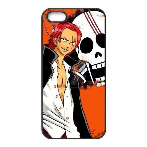 U2M75 Red Haired Shanks V9C2IJ coque iPhone 4 4s cellulaire cas de téléphone couvercle coque noire DA4PRO2BH