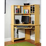 Morgan Computer Desk with Hutch, Natural Best Selling