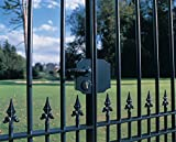 LOCINOX Black Small Ornamental gate Lock LAKY F2