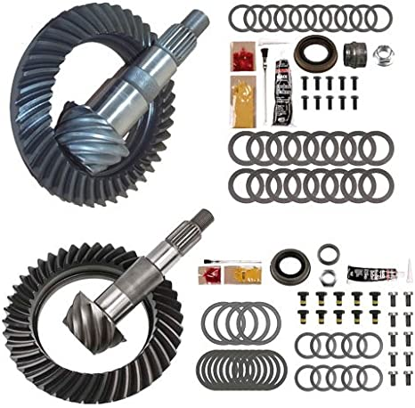 Rough Country Dana 30 4.56 Gears Set Compatible w// 2007-2018 Jeep Wrangler JK 4.56 Ring and Pinion 53045611