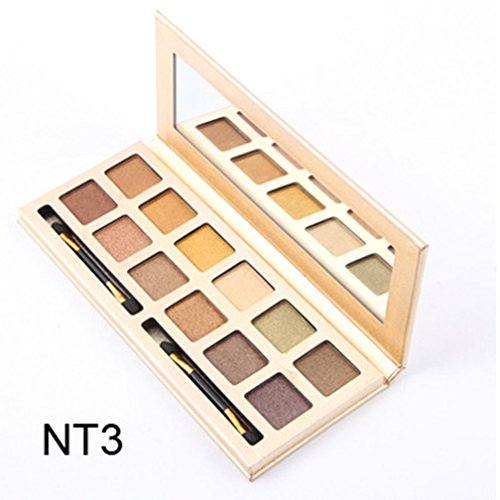 Price comparison product image Hot Sale!Pro Eyeshadow Palette,ZYooh Fashion Luxury Golden Cosmetics Shimmer Matte Eyeshadow Makeup Palette 12 Colors (G)