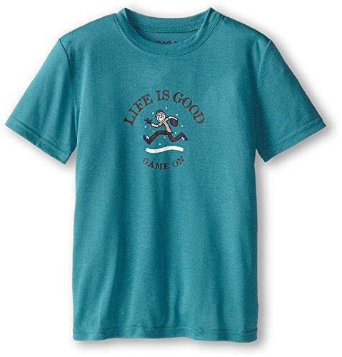 Life is good Boy's Sleep Tee (Turquoise Blue), X-Large