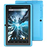 "ProntoTec 7"" inch Quad Core Google Android 4.4 KitKat Tablet PC, Allwinner A33 1.2 GHz Processor, Dual Camera, G-Sensor (Blue)"