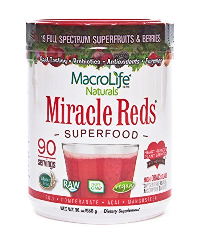 Macrolife Naturals Miracle reds superfood supplement for 90 day, 850g