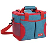 SERISIMPLE Sliver Lake Extra Large Collapsible Insulated Soft Lunch Cooler Bag Outdoor Insulated Picnic Bag or Camping, Beach, Travel, portable picnic Bag Thermal Sport Tote (Turquoise, 24 Can)