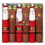 Meri Meri Set of 6 Santa & Reindeer Christmas Crackers