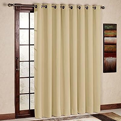 RHF Thermal Blackout Patio door Curtain Panel, Sliding door curtains Antique Bronze Grommet Top