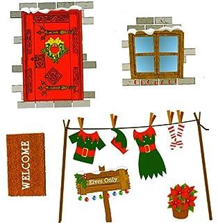 Elf House Stickers Christmas Elf Corner Novelty Accessories