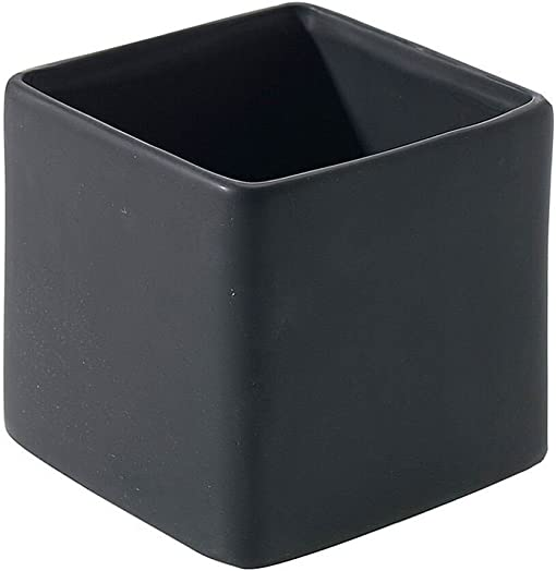 Afloral Matte Black Ceramic Urban Square Vase – 4.75