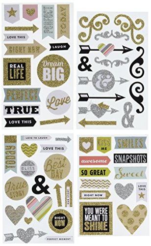 me & my BIG ideas Chipboard Stickers, Love This -