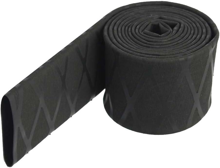 15mm Gazechimp Anti-Rutsch Schrumpfschlauch Griff Angeln Ruten Griff /Ärmel aus Silikon Schwarz