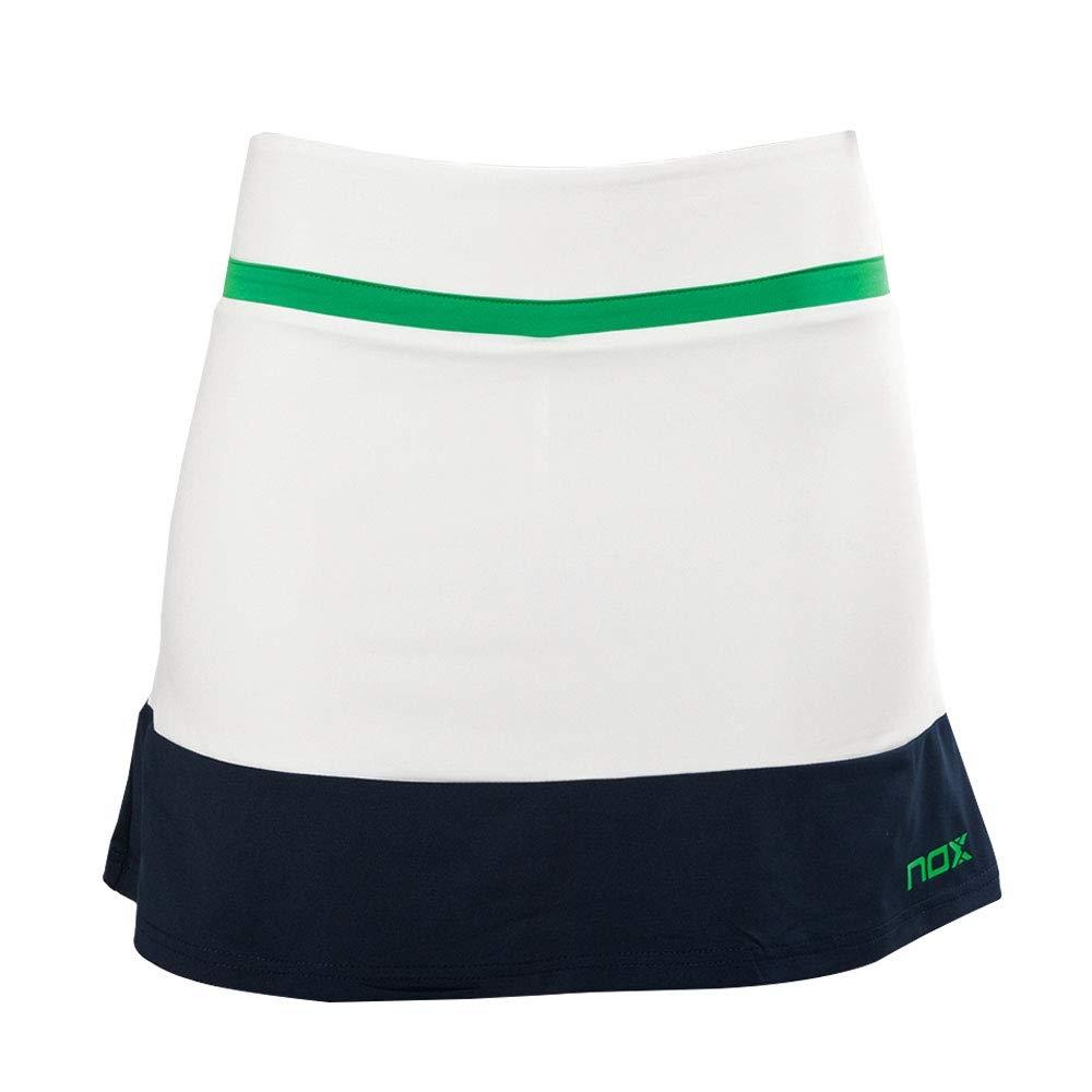 NOX Falda Pro Blanca Verde: Amazon.es: Deportes y aire libre