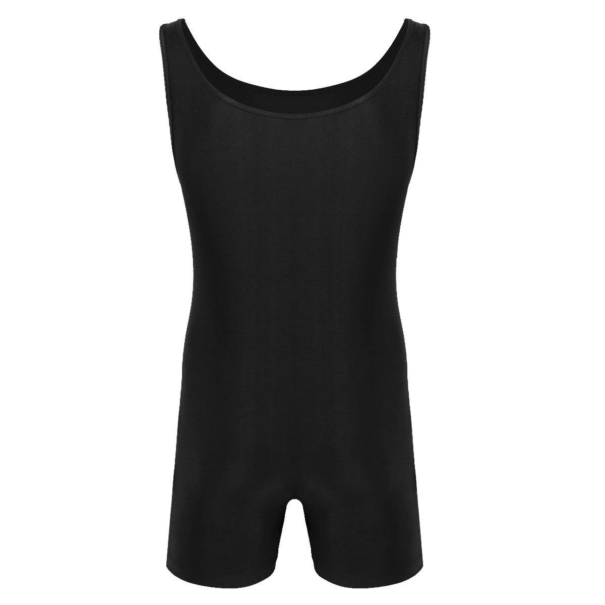4112d11eff3 Amazon.com   YiZYiF Men s Lycra Spandex Short Tank Bodysuit Workout Dance  Biketard Unitards   Sports   Outdoors