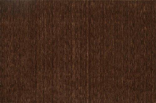 Super Area Rugs Brown Rug Striped/Solid Design 9' X 13' Wool Solid Carpet Brown Striped Wool Rug