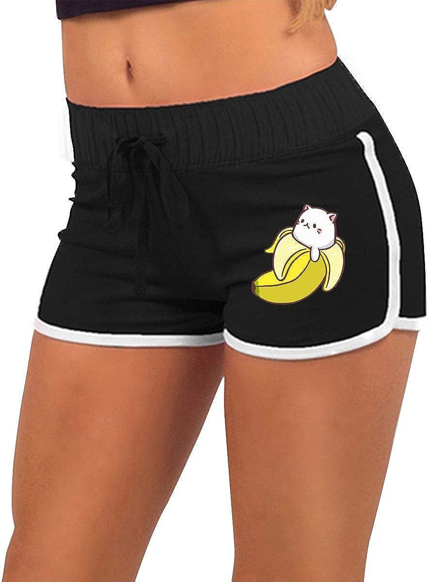 Bananya Baby Bananya Banana Cat Women Low-Waist Hot Pants Gym Workout Shorts