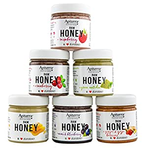 Apiterra HONEY Gift set with Superfoods - Honey Gift spread, Jam & Jelly Gift Set - 48 Ounce