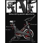 Allenamento-Spin-Bike-Professionale-Cyclette-Aerobico-Home-Trainer-Bici-Da-Fitness-Volano-Inerziale-Varie-Regolazioni-Della-Posizione-Di-Guida-Magazzino-a-Catena-Conchiglia-Max-120-Kg-Nero