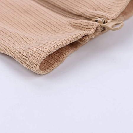 Uzinb Cremallera De Nylon compresi/ón del calcet/ín de la Pierna Ayuda de la Rodilla Punta Abierta de Prevenci/ón de Las Venas varicosas Estiramiento Calcetines