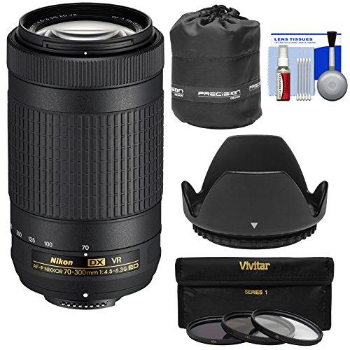 Nikon 70-300mm f/4.5-6.3G VR DX AF-P ED Zoom-Nikkor Lens with 3 UV/CPL/ND8 Filters + Hood + Pouch + Kit (Renewed) by Nikon (Image #6)