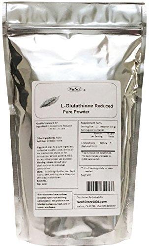 NuSci L-Glutathione Reduced Powder Powerful Antioxidant Immune Support (50 grams (1.76 oz)) - Glutathione Powder