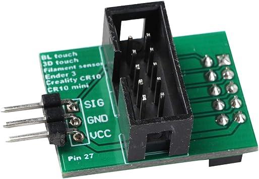 Placa De Adaptador Pin 27 para Impresora 3D para BL Touch ...