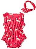 Leapparel Sleeveless Jumpsuit Rompersuits Red Small
