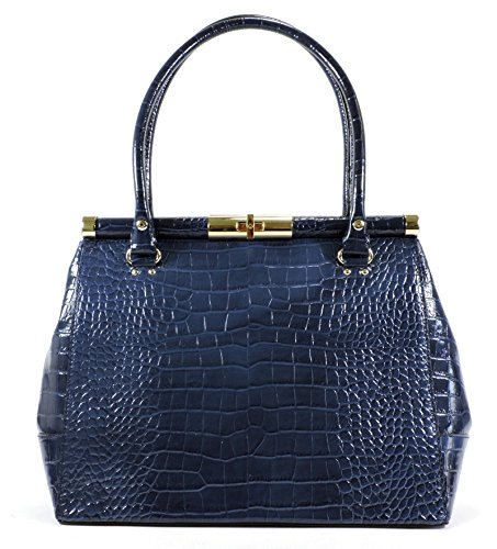 Kate Spade 'Knightsbridge' Croco Embossed Patent Leather Constance Tote, French Navy (Kate Spade Knightsbridge)