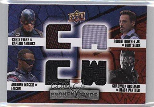 Upper Deck Bb (Captain America; Black Panther; Falcon; Tony Stark (Trading Card) 2016 Upper Deck Captain America: Civil War - Broken Bonds Quad Vs. #BB-CFTB)