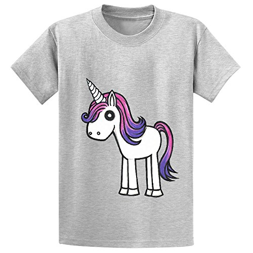 Snowl Overly Cute Unicorn Boys' Crew Neck Personalized T-shirt Grey - Iphone5s Volleyball Cases