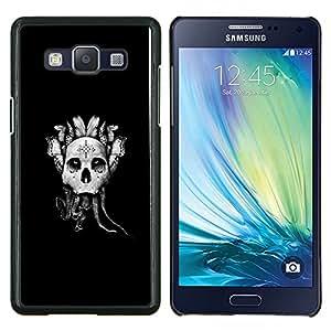 Caucho caso de Shell duro de la cubierta de accesorios de protección BY RAYDREAMMM - Samsung Galaxy A5 A5000 - Resumen Goth Skull Dreamcatcher