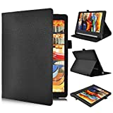 Lenovo YOGA Tab 3 10.1-Inch Flip Case – IVSO Slim Folio Book Case Cover for Lenovo YOGA Tab 3 10.1-Inch Tablet - with Card Holder, Hand Strap
