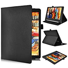 Lenovo YOGA Tab 3 Pro Flip Case – IVSO Slim Folio Book Case Cover for Lenovo YOGA Tab 3 Pro 10.1-Inch Tablet - with Card Holder, Hand Strap