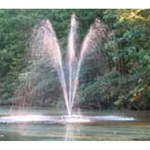 Custom Pro FT 3500 Floating Pond and Lake Fountain Complete Kit - Powerful Pump, 4 Spray Styles, 100 Foot Cord and More - Easy to (Pond Oxygenator)