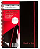 Black n' Red Twin Wire Poly Cover Notebook, Black, 70 sheets, 6 Piece