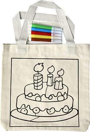 10 x Bolsas algodón para Colorear con rotuladores: Amazon.es ...