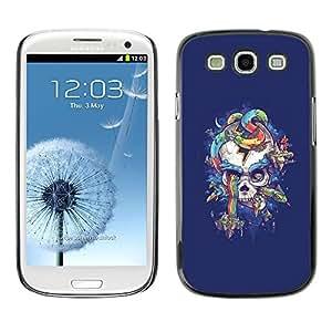 All Phone Most Case / Hard PC Metal piece Shell Slim Cover Protective Case Carcasa Funda Caso de protección para Samsung Galaxy S3 I9300 Purple Skull Snake Rainbow Colors