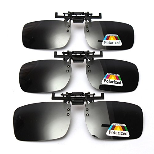 Cosprof Polarized Lenses Flip-Up Clip On Sunglasses UV400 - Driving/Fishing Eyewear - Flipup Sunglasses