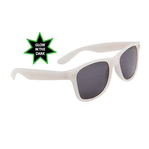 Amazoncom Glow In The Dark Frame Wayfarer Sunglasses W Dark Lens
