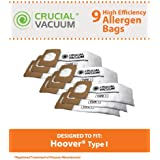 Type I Paper Bags for Hoover Platinum UH30010COM Upright Vacuums; Compare to Hoover Part Nos. AH10005, 985059002; Designed & Engineered by Think Crucial